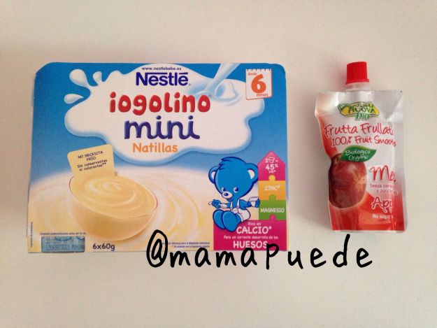 Natillas Iogolino y Smoothie de manzana