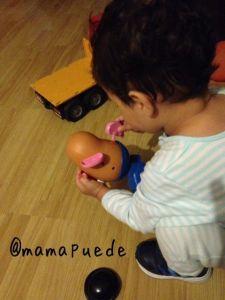 jugando con Mr Potato