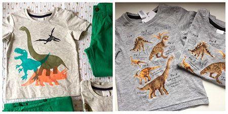ropa de dinosaurios