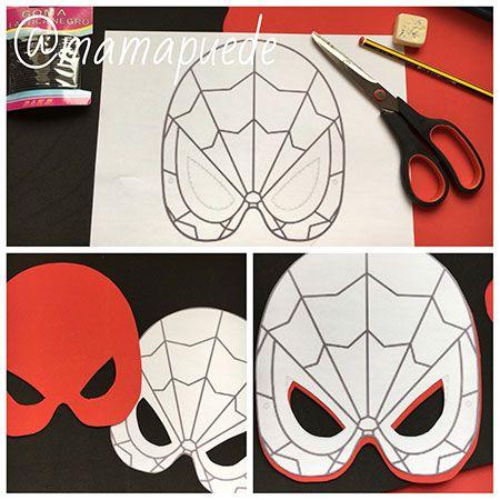 paso a paso para hacer una máscara de spiderman
