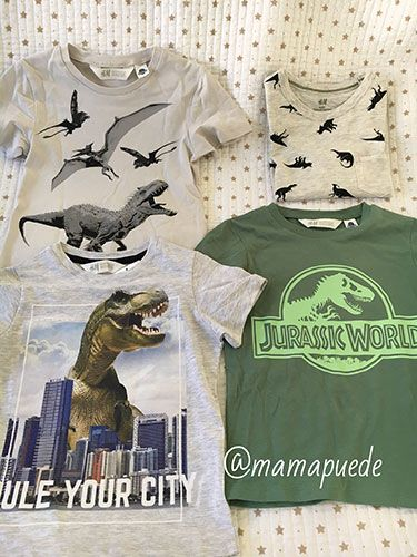 camisetas de dinosaurios para niños