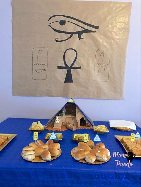 mesa merienda egipto