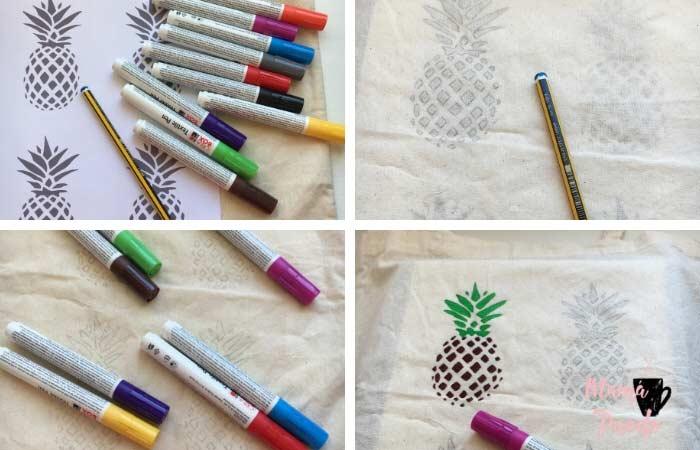cómo pintar bolsas de tela