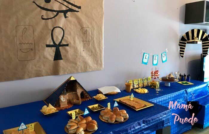 decoración fiesta de egipto