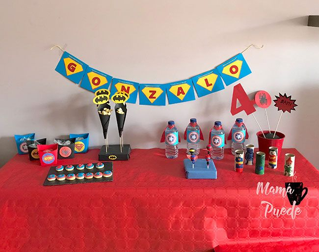 cumpleaños de superhéroes