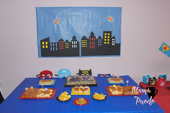 decoración fiesta de superheroes