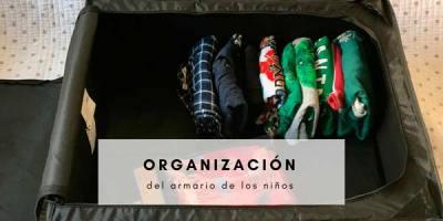 Organizar la ropa de los niños