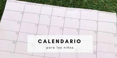 calendario para niños cómo método de organización