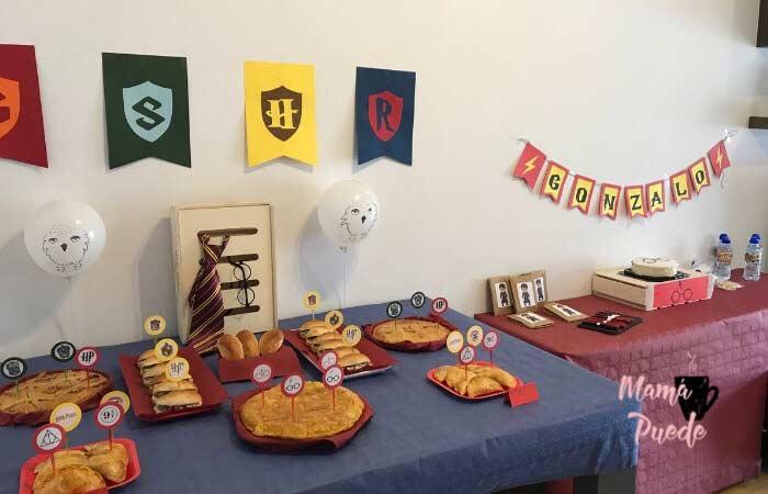 decoración fiesta de harry potter