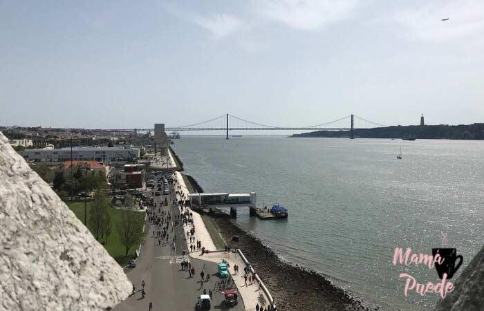 vistas desde la torre de belem