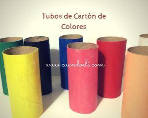 Tubos de Cartón de Colores: Actividades Fáciles y Divertidas