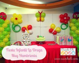 Fiesta Infantil La Oruga Muy Hambrienta