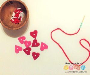 Collares de Sorbetes y Foamy para San Valentín