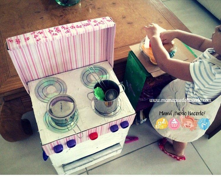 Cocina de cartón reciclado   mamá ¡puedo hacerlo!