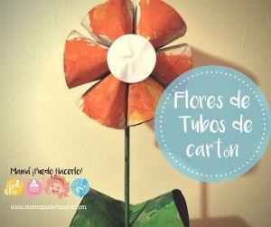 Flores de Tubos de Cartón