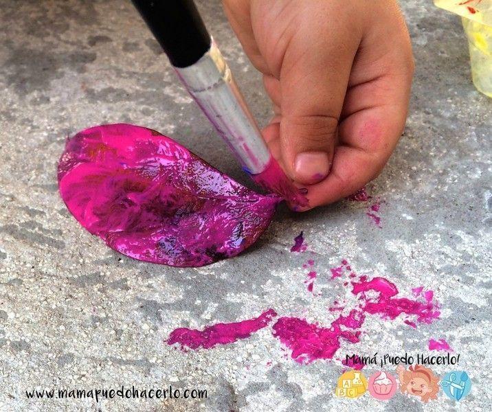 Pintar Hojas Secas en Otoño