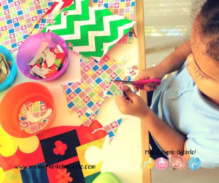 Collage con papel de regalo