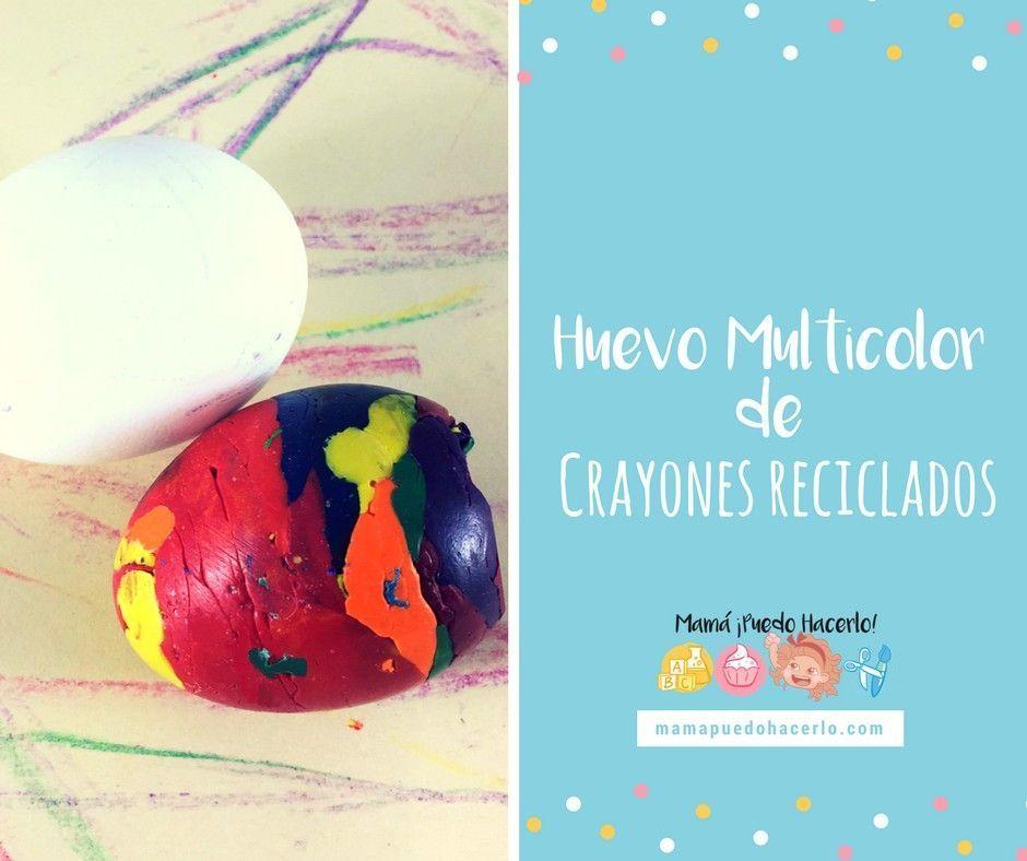 Huevo Multicolor de Crayones Reciclados