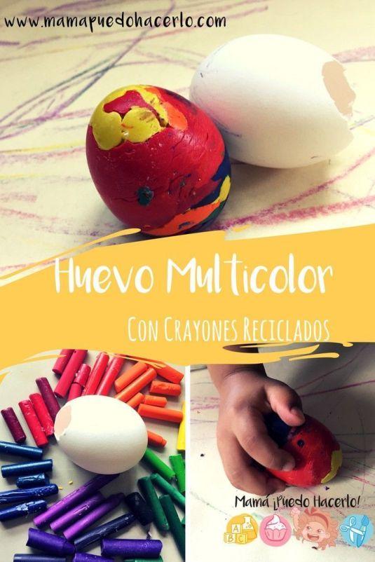 Huevo Multicolor con Crayones Reciclados