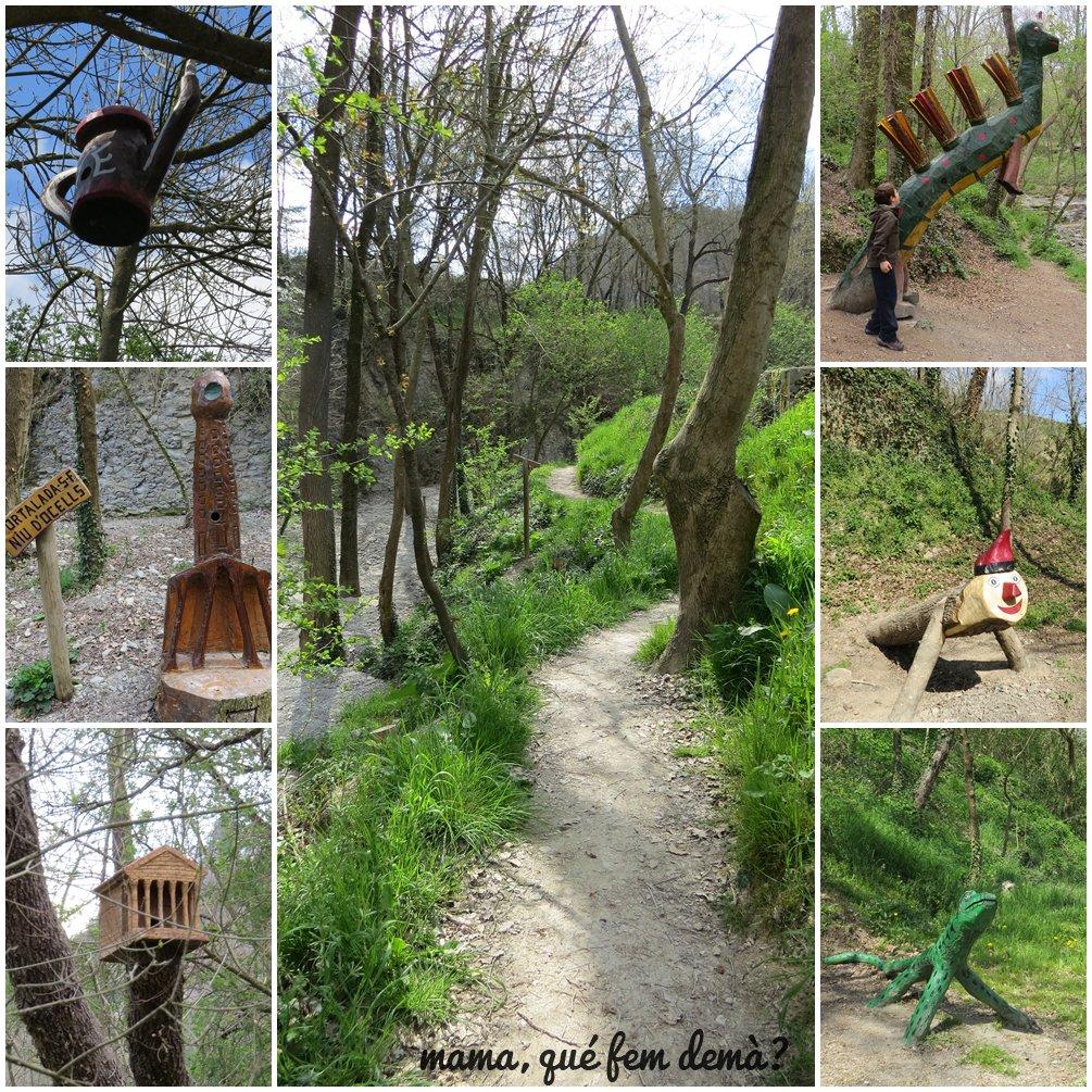 Figuras de madera del Bosc Encantat de Gurb