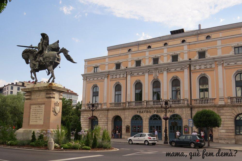 plaza del mío Cid y Teatro Principal de Burgos