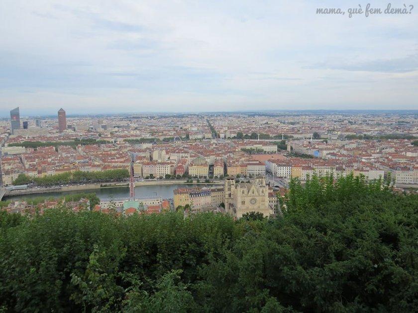 Vistas de Lyon desde la colina Fourvière