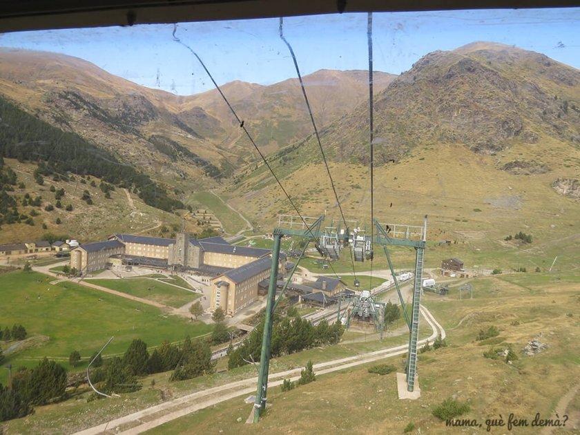 telecabina de la Coma del Clot en la Vall de Núria