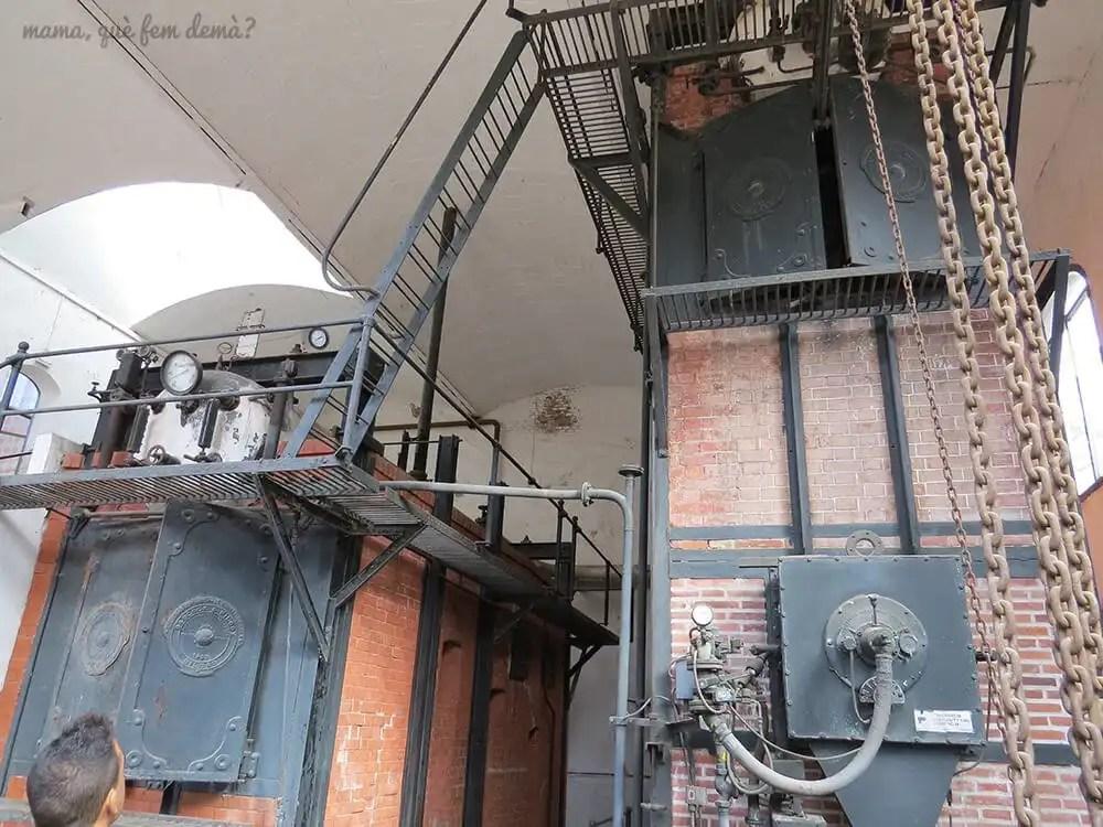 Las calderas de la fábrica textil de la Museu de la Ciència i de la Tècnica de Catalunya