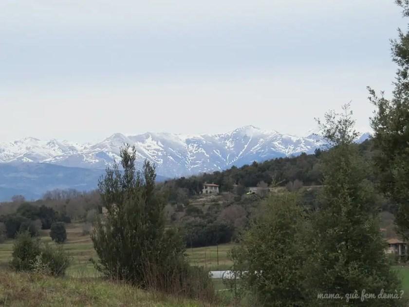 Montañas nevadas desde la ruta hacia el volcán Croscat