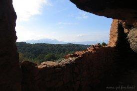 Vistas de Montserrat desde la Balma de l'Espluga.