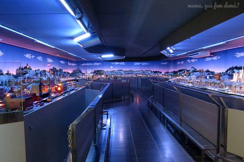 Sala donde está la maqueta del Màgic Món del Tren