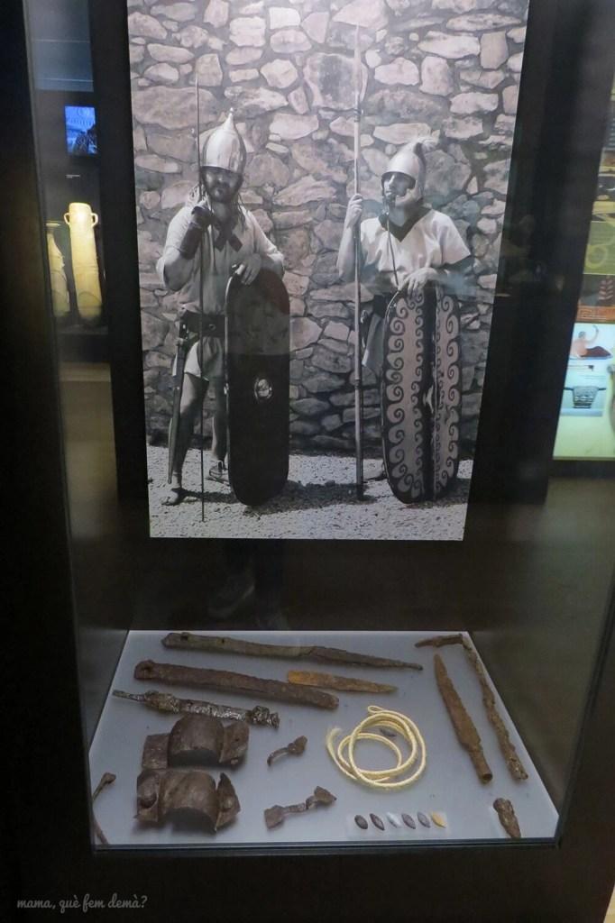 Armas ibéricas del museo del Poblat ibèric Ca n'Oliver de Cerdanyola del Vallès