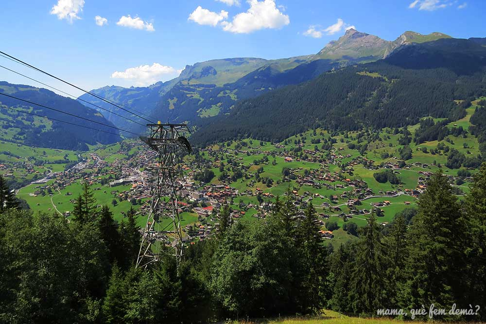 Vistas de Grindelwald desde Pfingstegg.