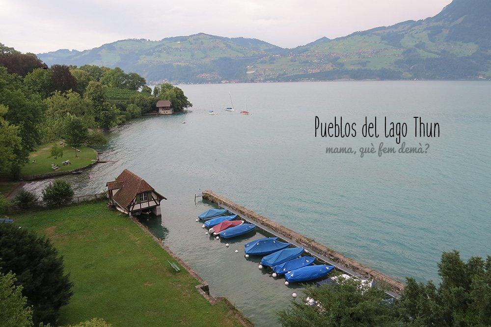 Lago de Thun desde el castillo de Spiez
