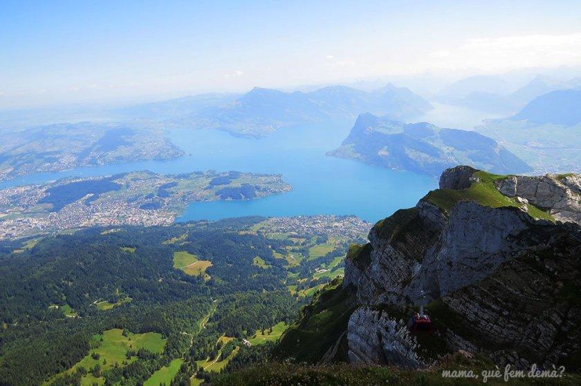 Vistas del lago de los 7 cantones desde el Pilatus