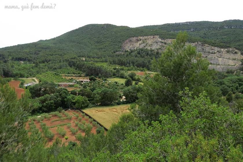 montañas de prades en la excursión cascada de la vall de montblanc
