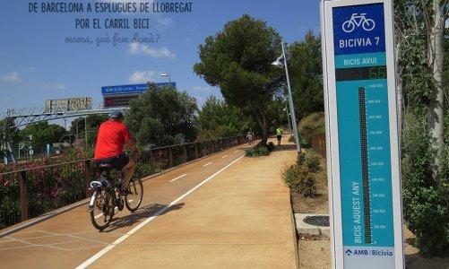 Descubriendo Esplugues a través del carril bici de Barcelona