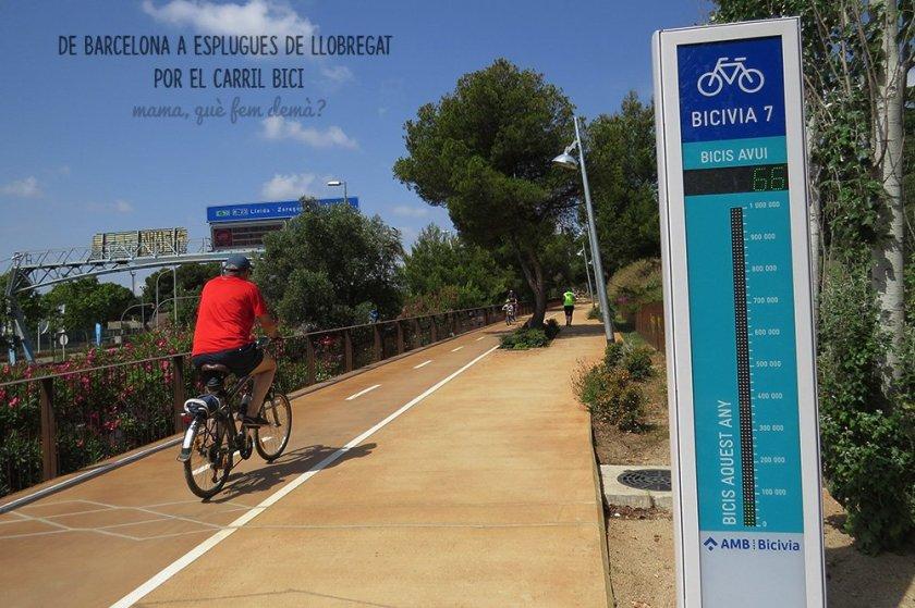 carril bici que conecta Esplugues de Llobregat con Barcelona