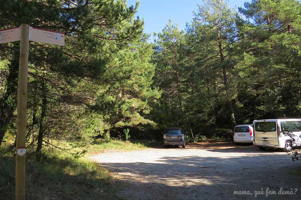 aparcamiento del Coll de la Carrasqueta