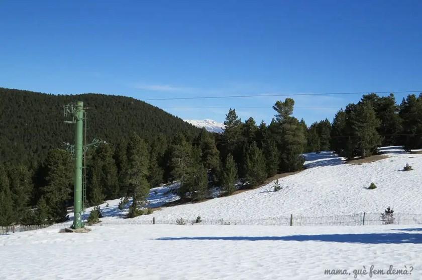 Antigua pista de esquí llamada Les Soques en Rasos de Peguera