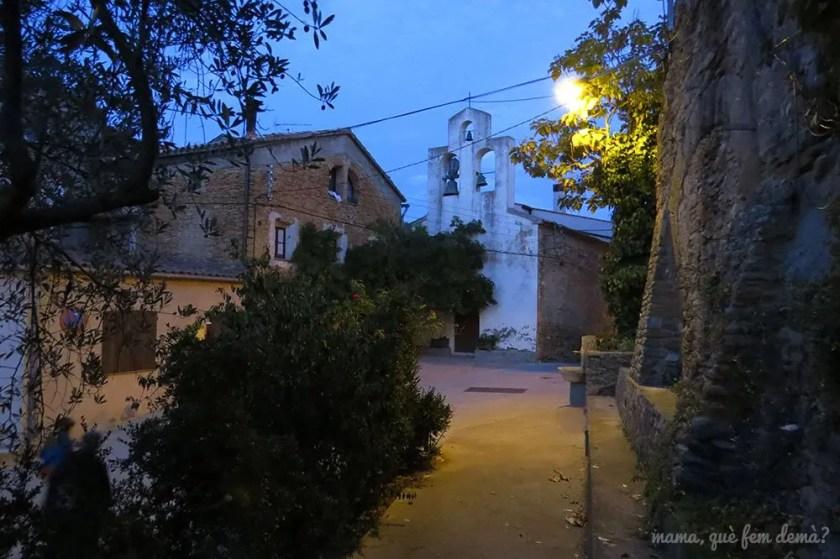 Calles de Agulló de noche