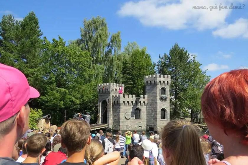 Espectáculo en el castillo medieval de Legoland Billund