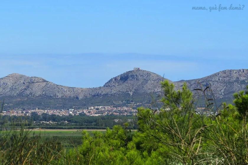 castell de Montgrí desde Pals