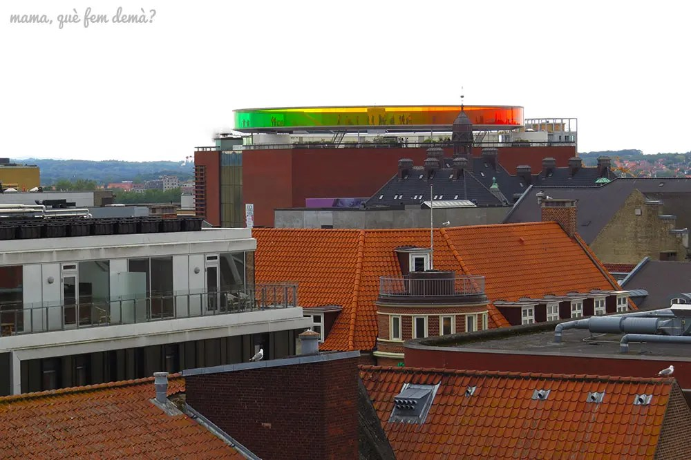 museo de arte contemporáneo ARoS visto desde Salling