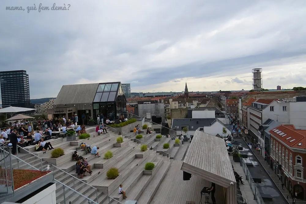 terraza de la azotea del centro comercial Salling