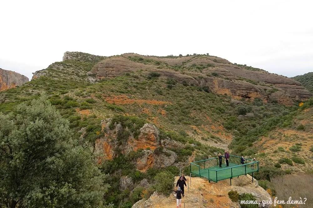 Mirador del Vero desde el camino que lleva a Alquézar