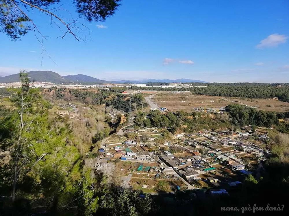 Vistas de Castellar del Vallès desde el bosc de Can Deu