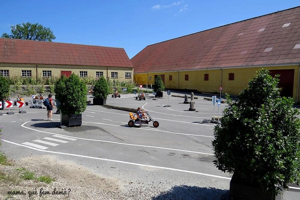 Circuito de triciclos en el Castillo de Egeskov
