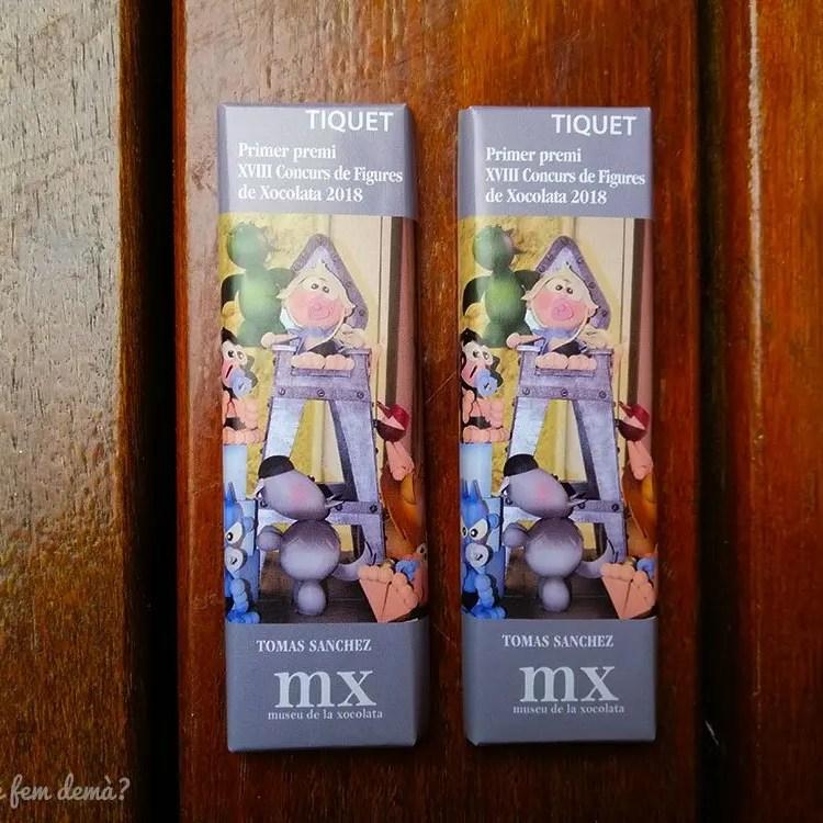 Entradas de chocolate del Museu de la Xocolata de Barcelona