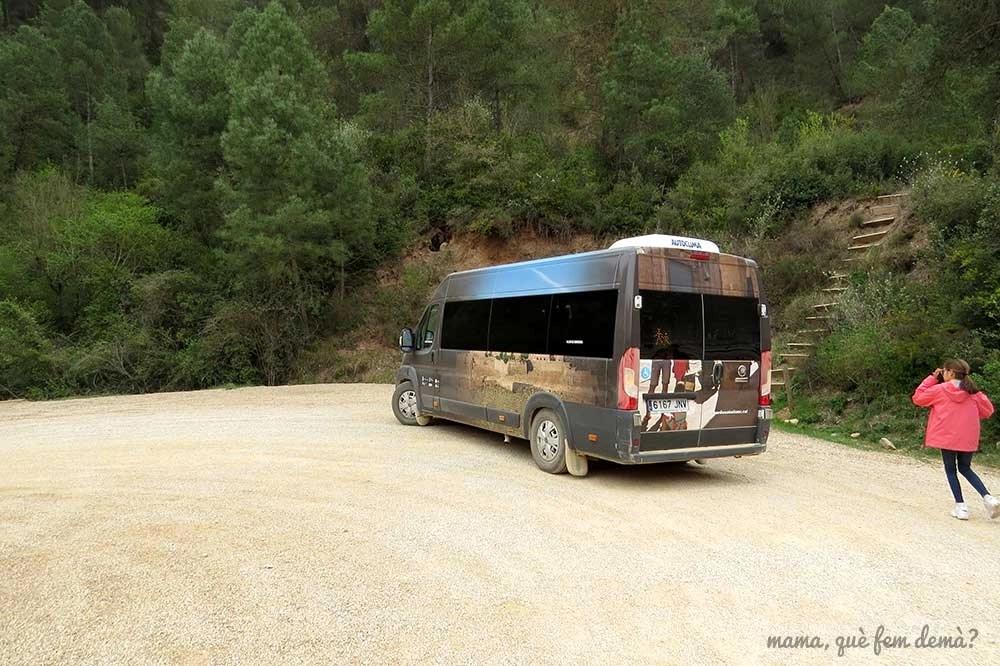 Mini bus de las minas de sal de Cardona